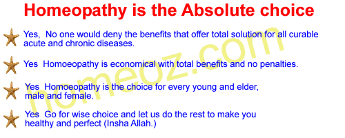 Homeopathy is the absolute choice